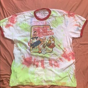 """Tye dyed """"Let's Summon Demons"""" Hot atopic Shirt"""